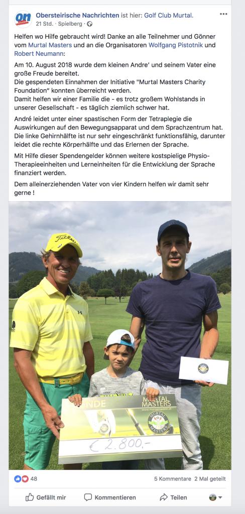 Spendenübergabe - Obersteirische Nachrichten
